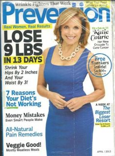 Prevention February 2012 Katie Couric Fit Fab at 55