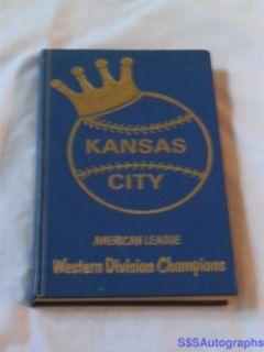 KANSAS CITY ROYALS MLB BASEBALL COOKBOOK GEORGE BRETT & EWING KAUFFMAN