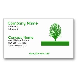 Environmental Problems Business Card