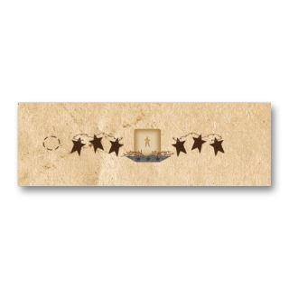 Stars & Candle Skinny Hang Tag Business Card Template