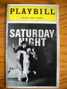 Stephen Sondheim Playbill Saturday Night David Campbel