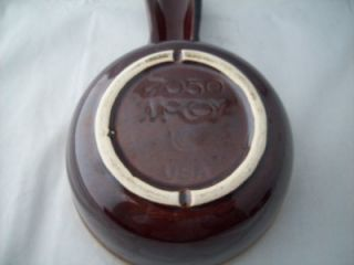 Vintage McCoy Brown Drip Individual Casserole Baker