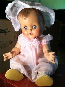 Vtg Madame Alexander Kathy Vinyl Baby Doll 18 Drink Wet Sleepy Eyes