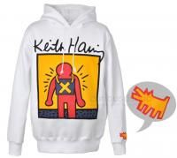 New Keith Haring Graphic Hooded Sweatshirt Pullover Hoodie Fleece