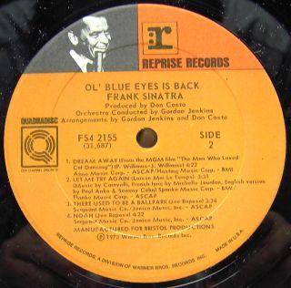 Frank Sinatra OL Blue Eyes Is Back Quad LP VG