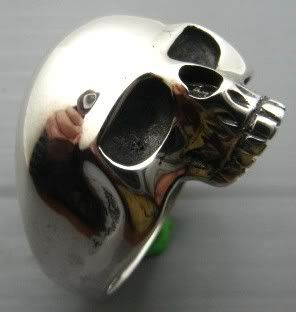 Beautiful Keith Richards Sterling Silver 925 Skull Ring Lady Version