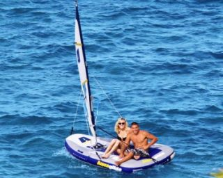 Multisport 270   Inflatable Sail boat  Windsurfer  Towable  Kayak USED