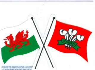 Welsh Dragon Prince of Wales Feathers Decal Car Sticker