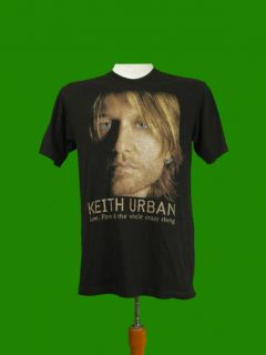 Keith Urban World Tour 2007 T Shirt M L