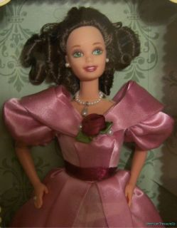 1995 HALLMARK Special Ed. SWEET VALENTINE 1830s Barbie Brown Curls