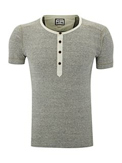 Diesel Button down henley T shirt Grey