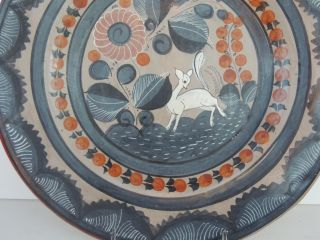 Stunning Excellent and clean Mexican Folk art pottery hand painted