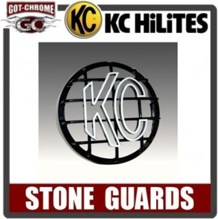7210 KC Hilites 6 Round Black Stone Guard Cover One