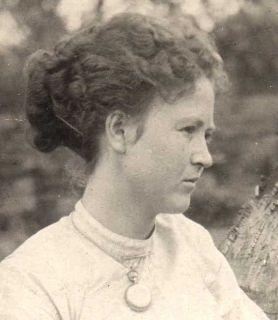 RP Helen Keller Playing Guitar RARE Photo 1907 Deaf