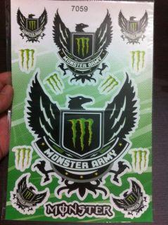 A205 Kawasaki Monster Logo ZX 636 6R 9R 10R 12R 14R Sticker Decal Army