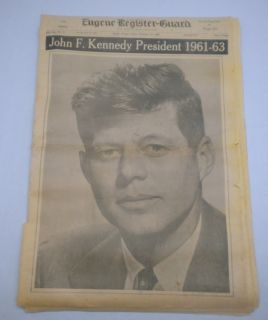 John F Kennedy President Assassination Newspaper Nov 22 1963 JFK