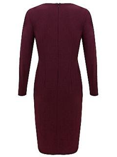 Alexon Dark plum long sleeve jersey dress Purple