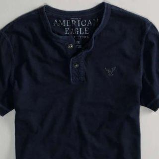 Mens American Eagle Henley Shirt 3 Colors