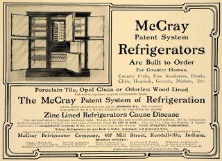 1905 Ad McCray Refrigerator Company Porcelain Antique   ORIGINAL