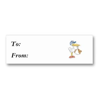 Stork Bringing Baby Bear Business Card Templates