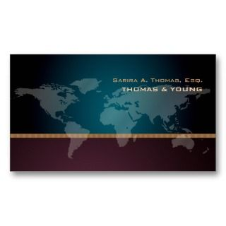 Going Global, world map Business Card Templates