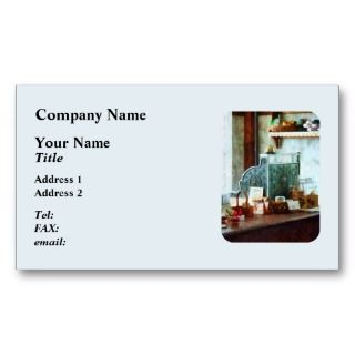 Cash Register in General Store Business Cards