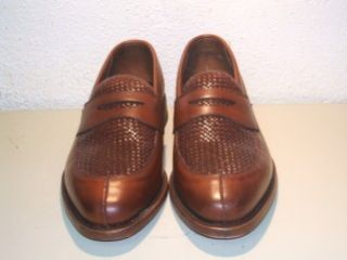Mens New Allen Edmonds Leyland Woven Toe Penny Loafers Shoes Size 7 1