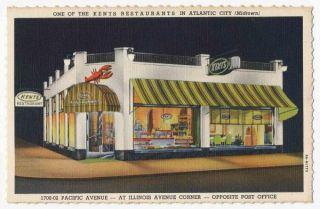 Kents Restaurant Midtown Atlantic City New Jersey 1939