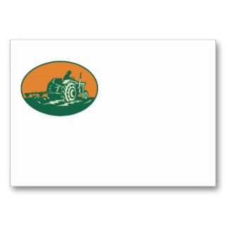 Farmer Worker Driving Farm Tractor Business Cards