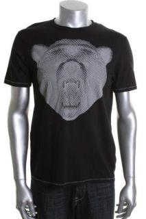 Kenneth Cole New Black Graphic Short Sleeve Crew Neck T Shirt M BHFO