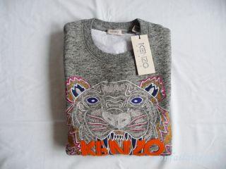 Kenzo Paris Tiger Sweater Gray Sweatshirt Medium M Unisex Sold Out New