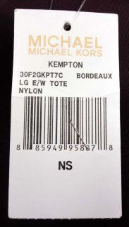 Michael Michael Kors Purple Nylon Kempton Gold Lock Small Tote MSRP$
