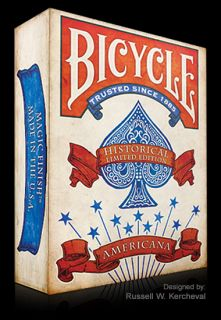 New SEALED Deck of Bicycle Americana Playing Cards 100 Custom