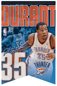 Kevin Durant OKC 35 Premium Felt Commemorative Banner