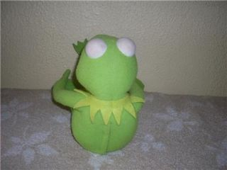 Sesame Street Kermit The Frog Plush Doll Poseable Talks 1998 by