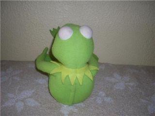 Sesame Street Kermit The Frog Plush Doll Poseable Talks 1998 by