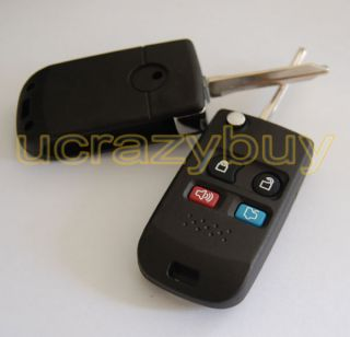 Buttons Modified Ford Fusion Key Flip Folding Blank Remote Key Fob