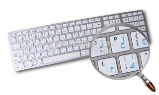 Mac English Arabic Stickers White Color of Background