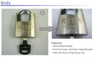 High Security Solid Steel Padlock 4 Keys