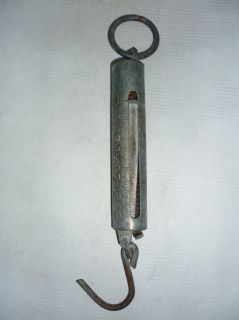 Antique Hanging Spring Scale 60 KG Communist Era USSR