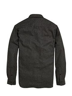 French Connection Macwool long sleeved shirt Charcoal Marl