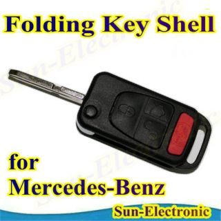 Remote Flip Folding Key Shell Case Mercedes Benz ML320 430 55 C230