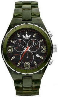 New 2012 Adidas Large Cambridge Mens Ladies Green Acrylic Chrono Watch