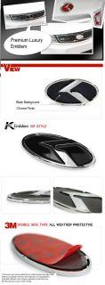 2012 2013 2014 7pcs Kia Rio Sedan 3D VIP K Logo Emblem Set Trunk Hood