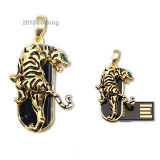 New Tiger Pendant Keyring 8GB USB 2 0 Flash Memory Pen Drive Stick