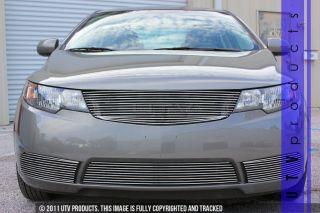 Fits 2010 2013 Kia Forte 4pc Chrome Combo Billet Grille Sedan Models w