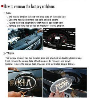Kia 2010 Cerato Forte Koup Tigris 2 0 Emblem Set 7ea