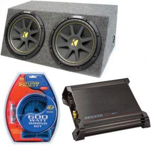 Kicker Car Audio Dual 15 Powered SEALED Sub Box Enclosure DX500 1 C15