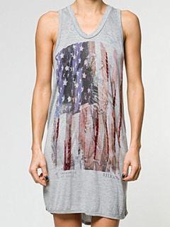 Religion American flag dress Grey Marl