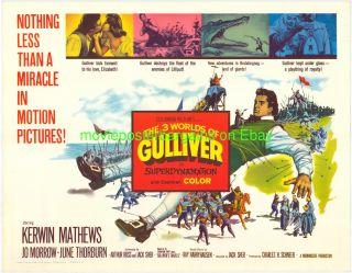 The 3 Three Worlds of Gulliver Movie Poster 22x28 Original Half Sheet